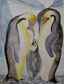 Eis, Kälte, Malerei, Pinguin