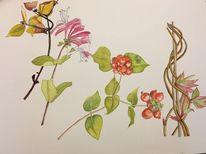 Aquarellmalerei, Jahreszeiten, Aquarell, Studie
