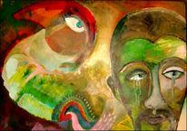 Afrika, Armut, Sehen, Acrylmalerei