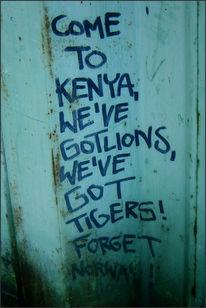 Norwegen, Fotografie, Kenia, Graffiti