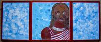 Sehen, Figural, Ethnologie, Acrylmalerei