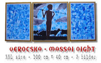 Malerei, Figural, Afrika, Massai