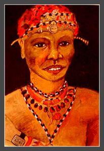 Schrift, Acrylmalerei, Ethnologie, Ungarn