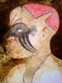 Aquarellmalerei, Tansania, Schrift, Ungarn