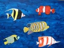 Südsee, Meer, Fisch, Malerei