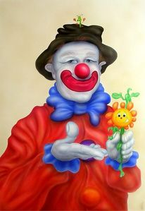Malerei, Gesicht, Clown, Portrait