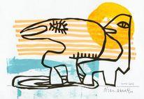 flyer zur aktion abwesende pelikane