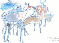 Tiere, Akkordeon, Petrus, Pferde
