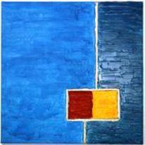 Acrylmalerei, Blau, Abstrakt, Pinnwand