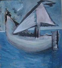 Surreal, Segel, Dreieck, Wasser