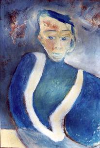 Jugend, Malerei, Blau, Bleu