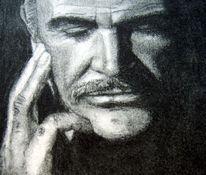 Kohlezeichnung, Zeichnung, Portrait, Zeichnungen