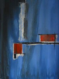 Abstrakt, Malerei, Blau