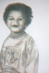 Zeichnung, Kind, Portrait, Zeichnungen