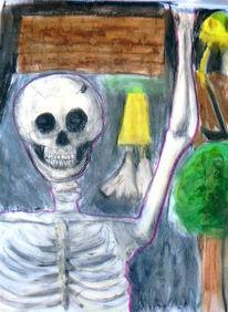 Zeichnung, Skelett, Zeichnungen, Weiblichkeit