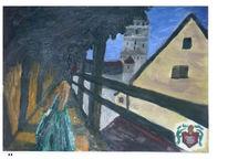 Malerei, Frau, Burg, Menschen