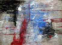 Abstrakt, Malerei, Staub, Nacht