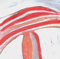 Malerei, Abstrakt, Fliegenpilz