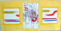 Malerei, Abstrakt, Spuren