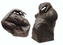 Skulptur, Bronze, Figural, Ikarus