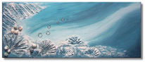 Blau, Wasser, Malerei, Muschel