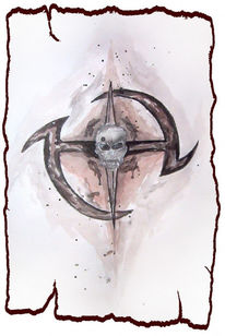 Kreis, Schädel, Aquarellmalerei, Tod