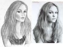 Portrait, Stil, Schauspieler, Zeichnung