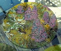 Glas, Fusing, Flieder, Natur