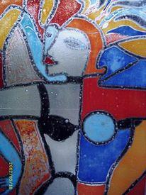 Wandbeschriftung, Glas, Popart, Licht
