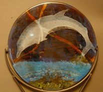 Glas, Fusing, Delfin, Fisch