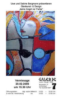 Plakatkunst, Ausstellung, Einladung, Glas