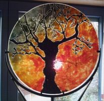 Abendrot, Glas, Natur, Baum