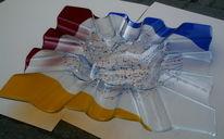 Fusing, Schale, Rot, Glas