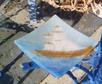Glas, Albun, Segelschiff, Gegenstände