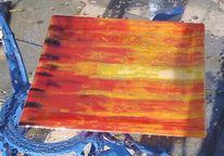 Farben, Glas, Wandbeschriftung, Fusing