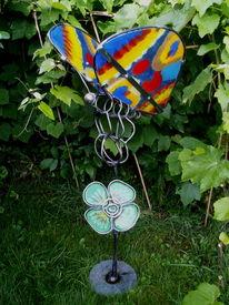 Garten, Glas, Natur, Schmetterling