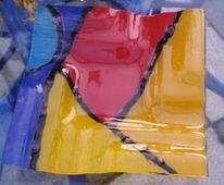 Popart, Farben, Glas, Fusing
