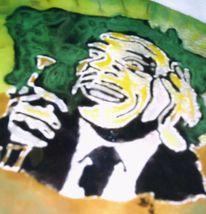 Wandbeschriftung, Glas, Musik, Jazz