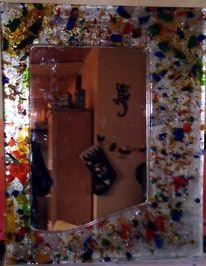 Spiegel, Glas, Fusing, Grafik