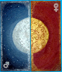Gold, Blau, Mond, Gelb