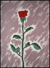 Blumen, Malerei, Pflanzen, Rose