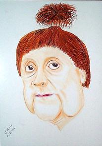 Angela merkel, Karikatur,