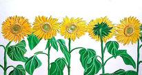 Sonnenblumen, Malerei,