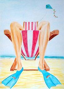 Strand, Meer, Flosse, Tauchen