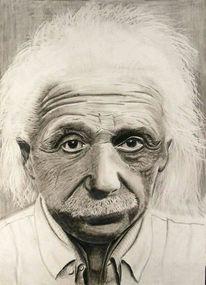 Grafik, Einstein, Portrait,