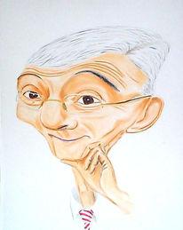 Fischer, Karikatur,