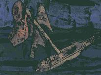 Holzschnitt, Grafik, Pirat, Freiheit