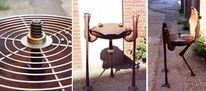 Skulptur, Kunsthandwerk, Metall, Grill