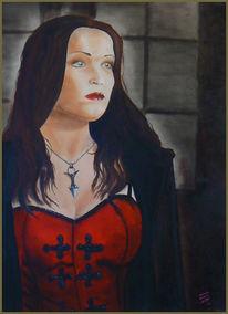 Ölmalerei, Portrait, Frau, Figural