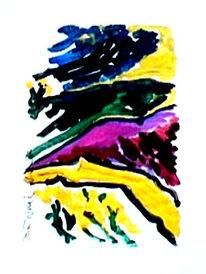 Aquarellmalerei, Gouachemalerei, Landschaft